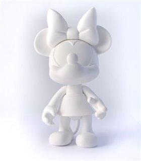 Minnie Blanc Artoy 25cm Vinyle Leblon Delienne DISAT25MIBC