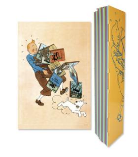 Affiche de Tintin Tenant des Albums