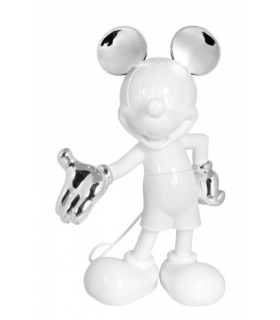 Mickey Welcome Blanc & Argent