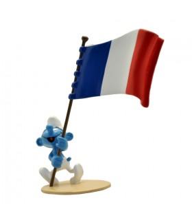 Le Schtroumpf Porte-drapeau Français