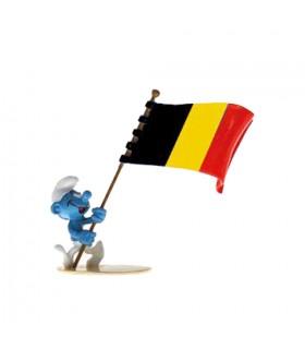 Le Schtroumpf Porte-drapeau Belge