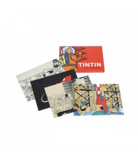 Set de 16 cartes postales : Tintin Lune