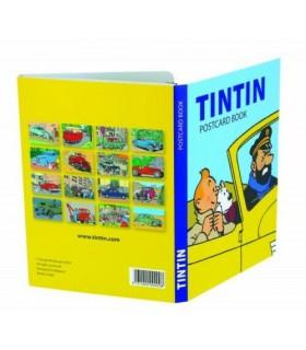 Set de 16 cartes postales : Tintin et les Voitures