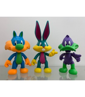 Pack 3 Figurines - The mad Looney Tunes