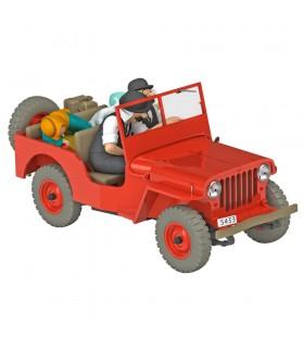 La Jeep Rouge Tintin au Pays de l'Or Noir 1/24ème