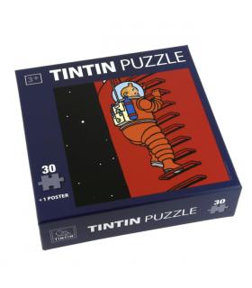 Puzzle Tintin Échelle On a Marché sur la Lune Hergé Moulinsart