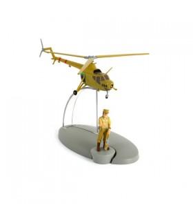 L'Hélicoptère C04 de l'Armée de San Theodoros et le Général Alcazar - Tintin et les Picaros