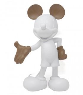 Mickey Welcome Blanc Mat & Effet Bois
