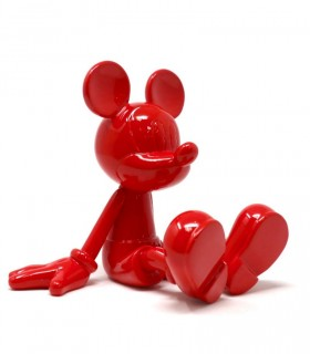 Sitting Mickey Rouge Laque - Marcel Wanders