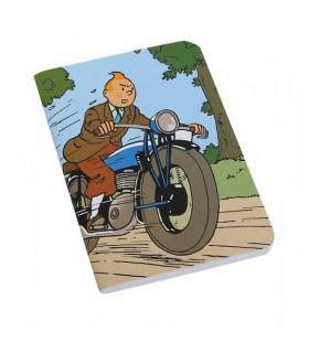 Grand Carnet de Note - Tintin à Moto