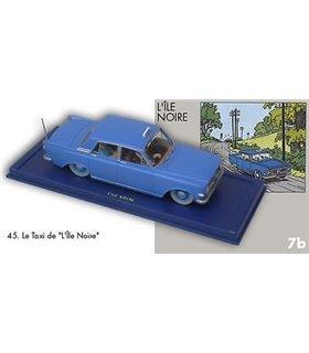 Le Taxi bleu de L'Île Noire En Voiture Tintin Hergé Moulinsart 45