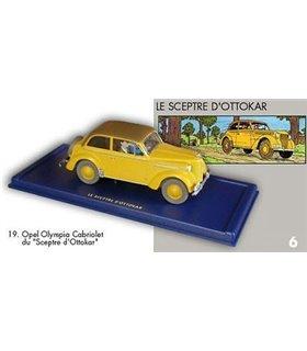 L'Opel Olympia cabriolet Le Sceptre d'Ottokar En voiture Tintin Moulinsart 19
