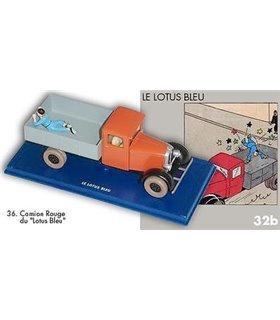 Le Camion rouge du Lotus bleu En Voiture Tintin Hergé Moulinsart 36