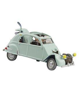 La 2 CV emboutie Hergé Moulinsart 4 En voiture avec Tintin2 29504